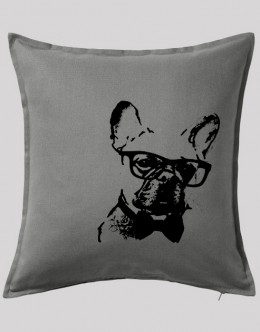 french-bulldog-pilow-cover-grey