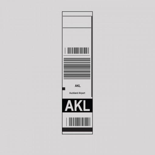 AKL - Auckland Airport Code Baggage Tag T-shirt