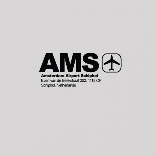 AMS - Amsterdam Airport Code T-shirt