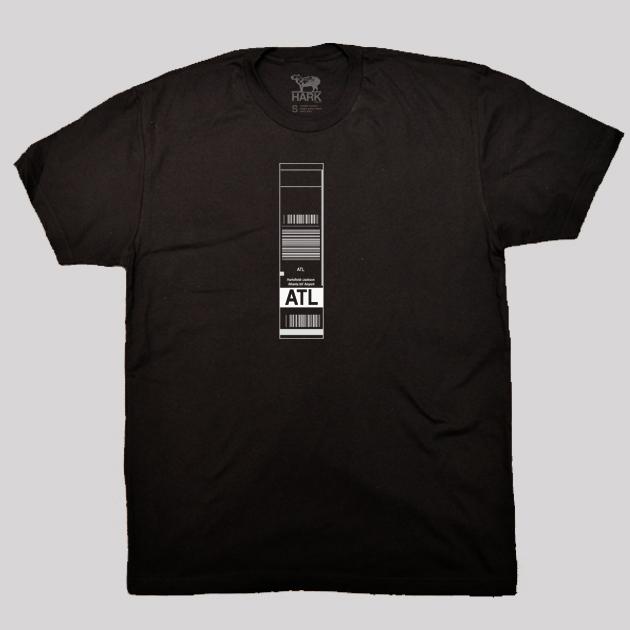 ATL - Atlanta Airport Code Baggage Tag T-shirt