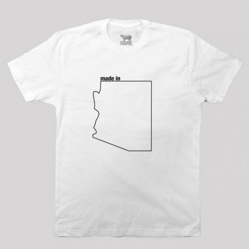 Arizona AZ Made State Map Profile T-Shirt