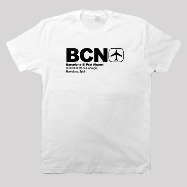 BCN - Barcelona Airport Code T-shirt