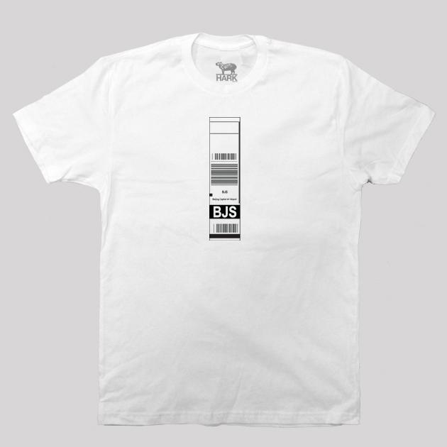 BJS - Beijing Capital Airport Code Baggage Tag T-shirt