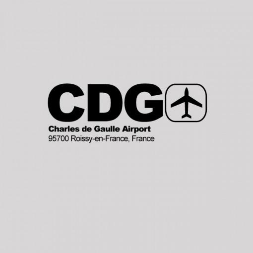 CDG - Paris Airport Code T-shirt