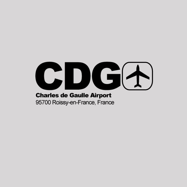CDG - Paris Airport Code T-shirt