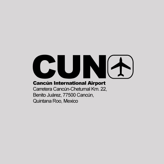 CUN - Cancun Airport Code T-shirt