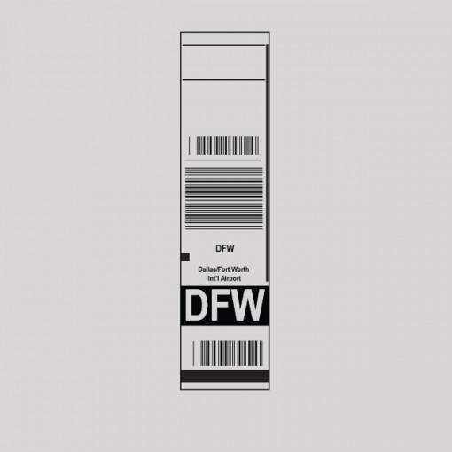 DFW - Dallas Airport Code Baggage Tag T-shirt