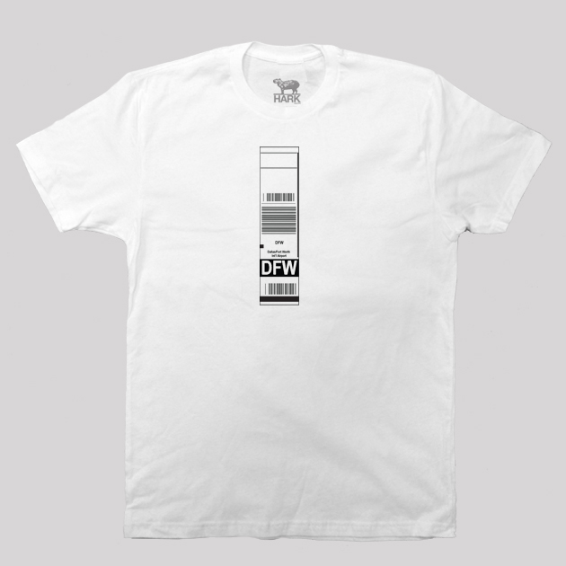 DFW - Dallas Airport Code Baggage Tag T-shirt