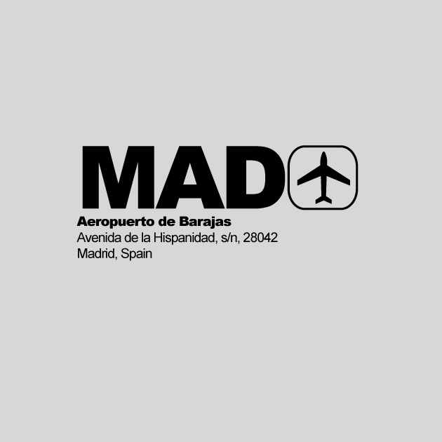MAD - Madrid Airport Code T-shirt