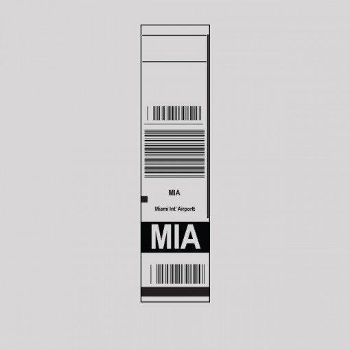 MIA - Miami Airport Code Baggage Tag T-shirt