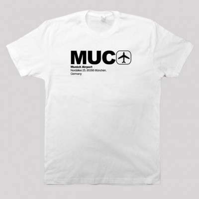 MUC - Munich Airport Code T-shirt