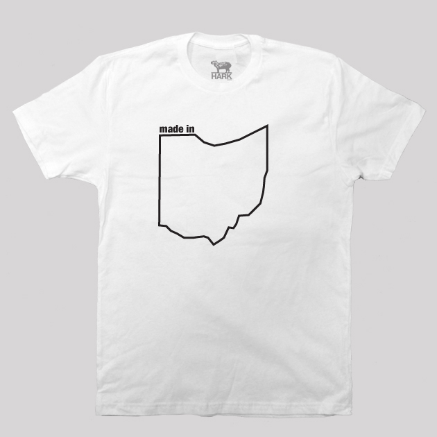 Ohio OH Made State Map Profile T-Shirt