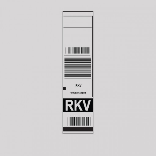 RKV - Iceland Airport Code Baggage Tag T-shirt