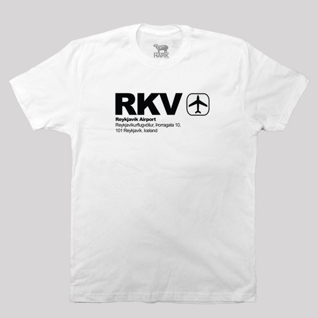 RKV - Iceland Airport Code T-shirt