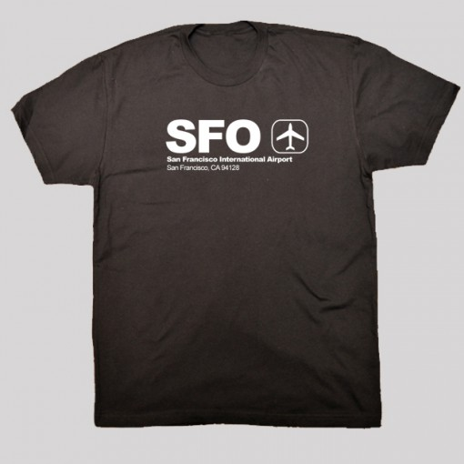 SFO - San Francisco Airport Code T-shirt