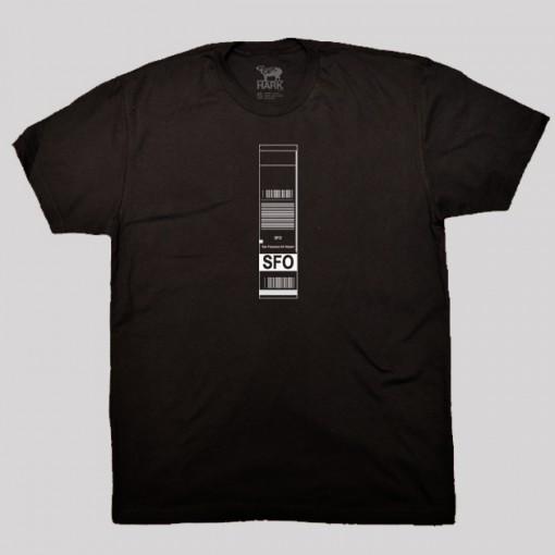 SFO - San Francisco Airport Code Baggage Tag T-shirt