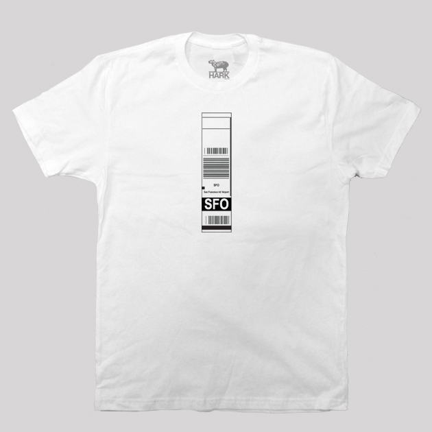 SFO - San Francisco Airport Code Baggage Tag T-shirt