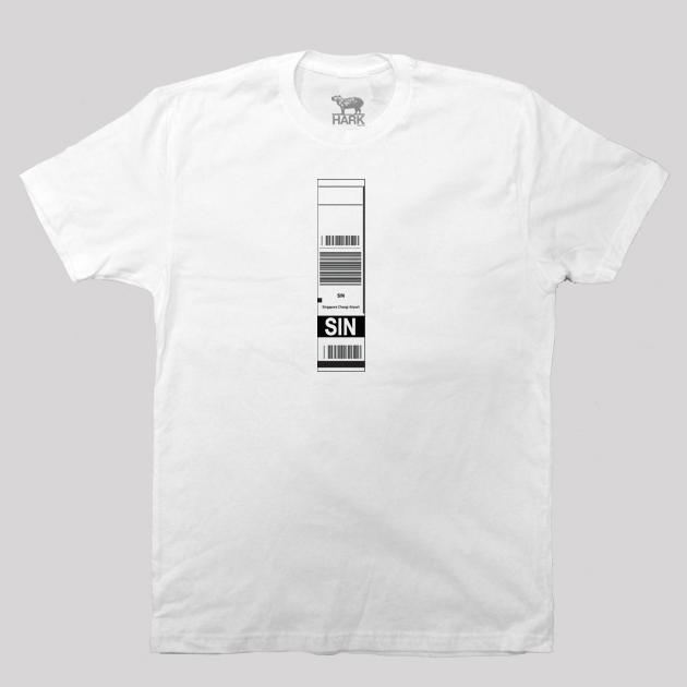 SIN - Singapore Airport Code Baggage Tag T-shirt