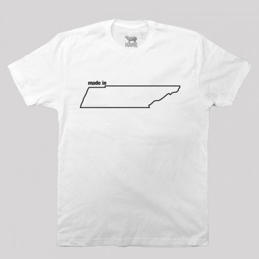 Tennessee TN Made State Map Profile T-Shirt
