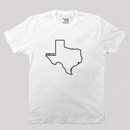 Texas TX Made State Map Profile T-Shirt