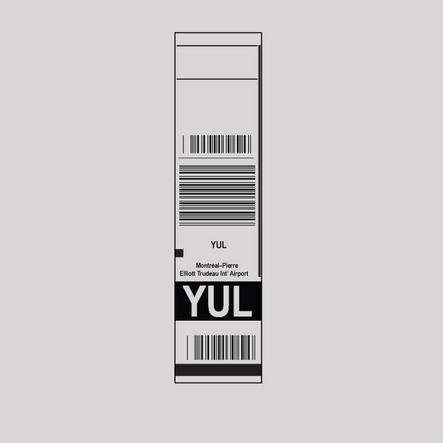 YUL - Montreal Airport Code Baggage Tag T-shirt