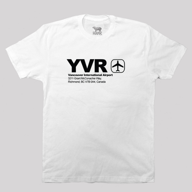 YVR - Vancouver Airport Code T-shirt