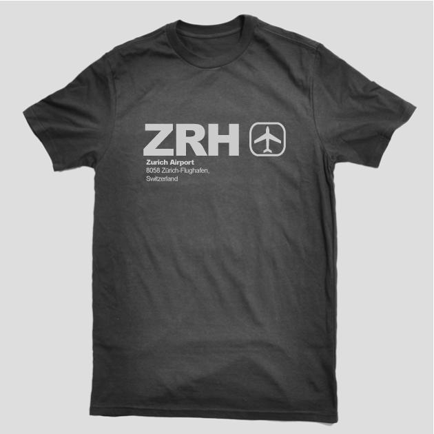 ZRH - Zurich Airport Code T-shirt