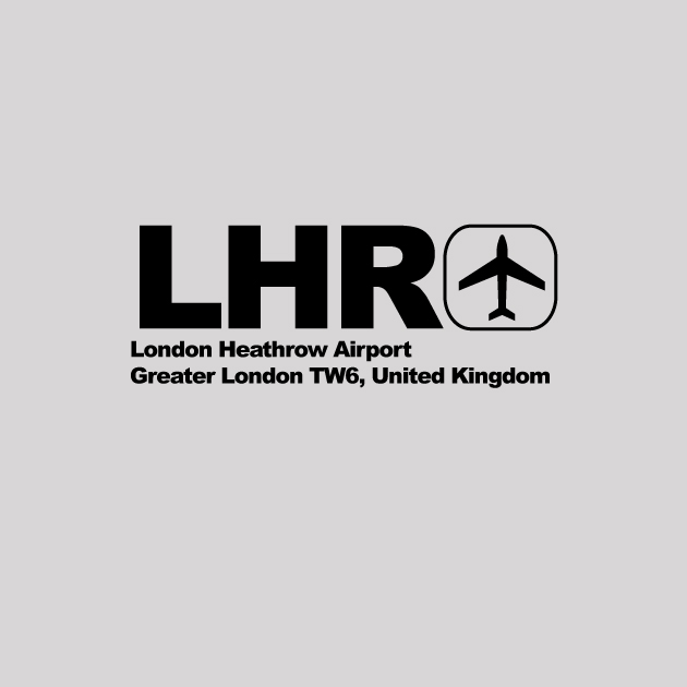 LHR - London Heathrow Airport Code T-shirt