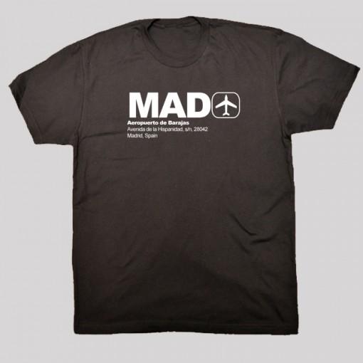 MAD - Madrid Airport Code T-shirt