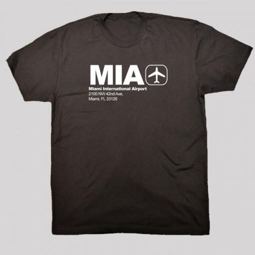 MIA - Miami Airport Code T-shirt