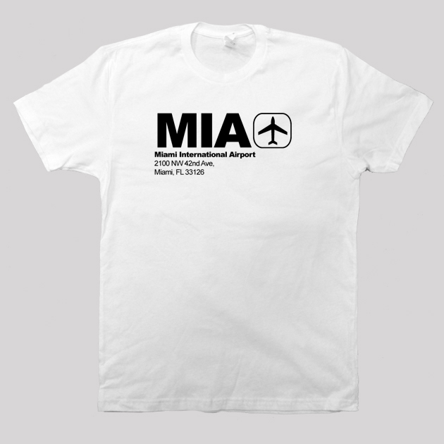 MIA - Miami Airport Code T-shirt