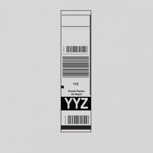 YYZ - Toronto Airport Code Baggage Tag T-shirt